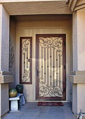modelos de grades - porta e janela com grades pretas