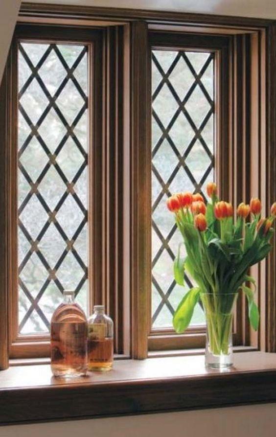 modelos de grades - sala com janela gradeada