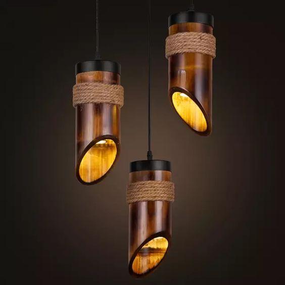 modelos de lustres - lustre com estrutura de bambu