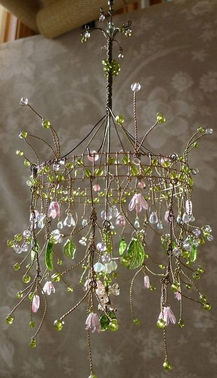modelos de lustres - lustre com flores