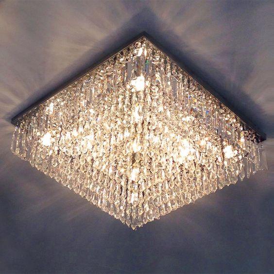 modelos de lustres - lustre de cristal não suspenso