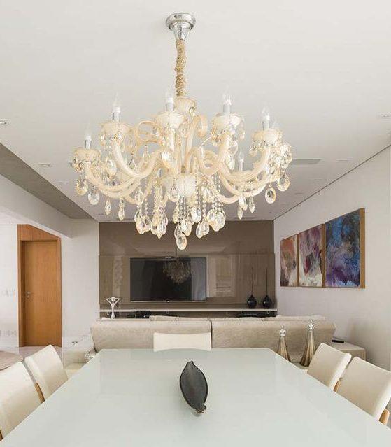 modelos de lustres - lustre de cristal para cozinha