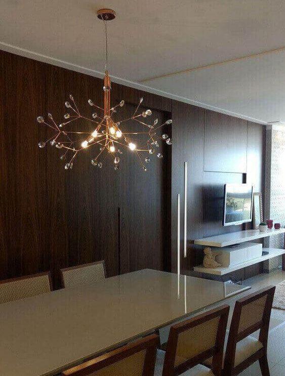modelos de lustres - lustre de sala de janta com ramificações