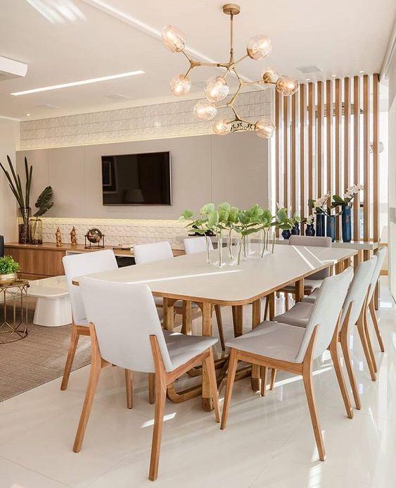 modelos de lustres - lustre de sala de jantar com ramificação e nove lâmpadas