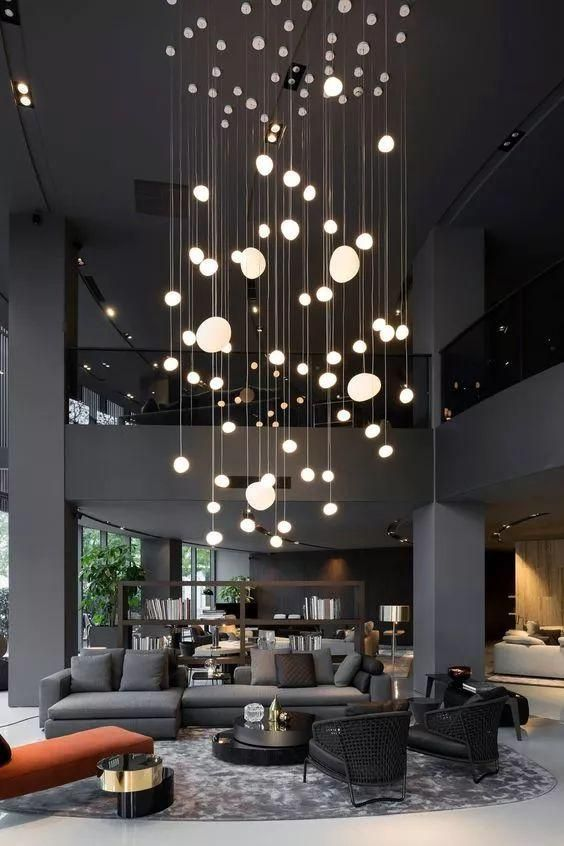 modelos de lustres - lustre grande de sala de estar