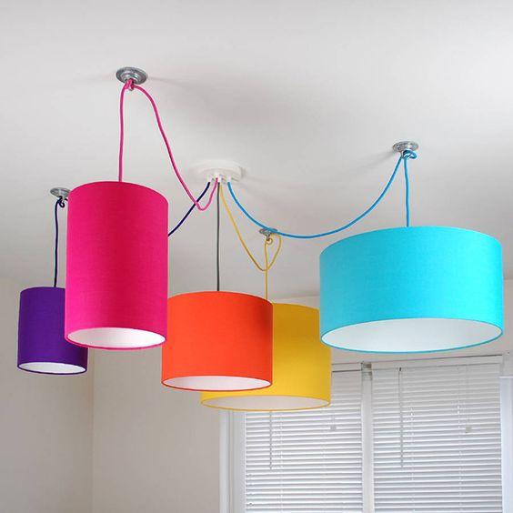 modelos de lustres - lustres coloridos simples