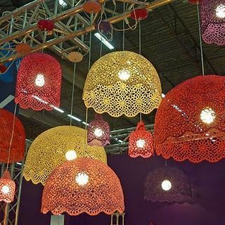 modelos de lustres - lustres com cúpulas que imitam tecido