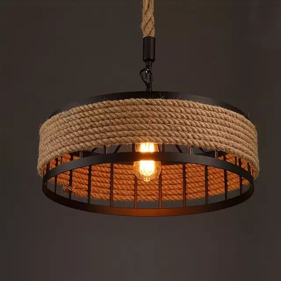 modelos de lustres - lustres com cordas e estrutura de metal