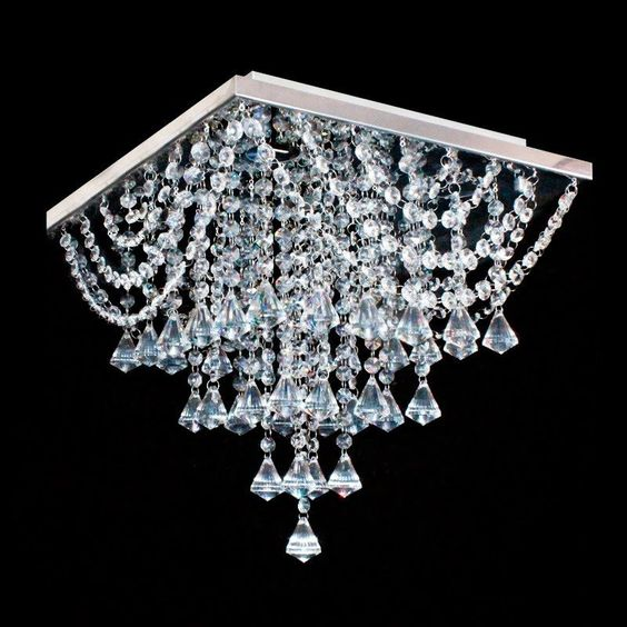 modelos de lustres - lustres com gotas de cristal