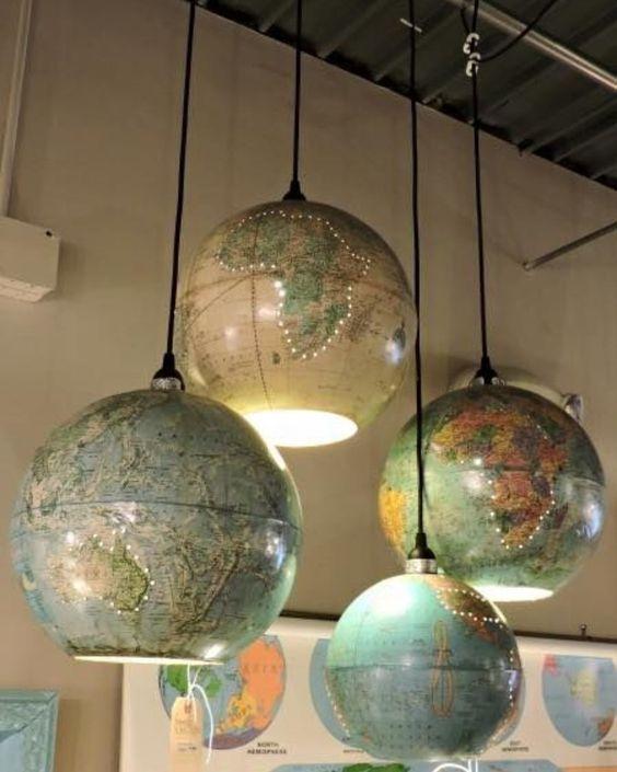 modelos de lustres - lustres de globos terrestes