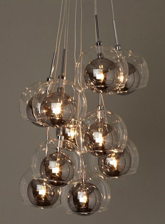 modelos de lustres - lustres de vidro