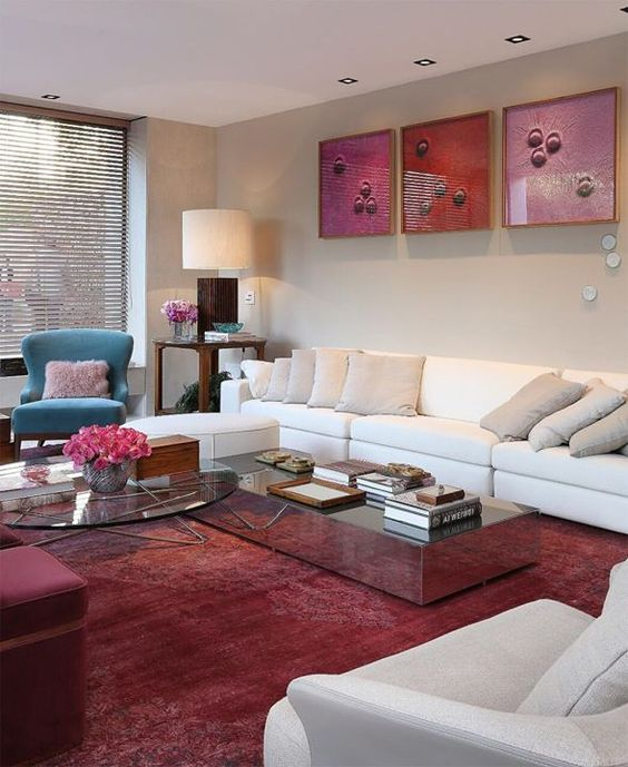 Móveis de sala de estar na cor off white