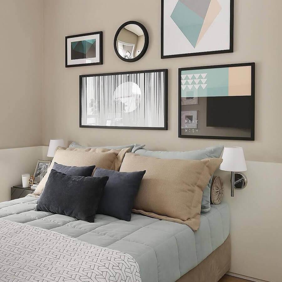 quadros tumblr para quarto decorado em tons neutros Foto Pinterest