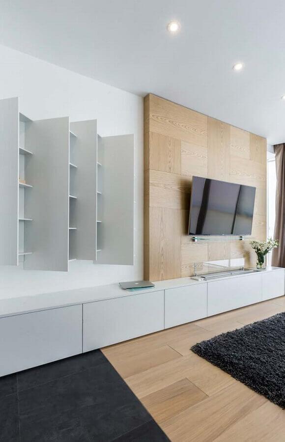 rack com painel para sala para sala moderna Foto Pinterest