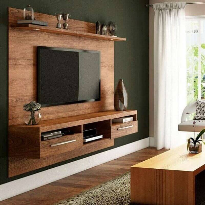rack suspenso com painel simples Foto Mobly