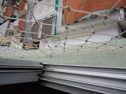 redes de proteção - janela com rede