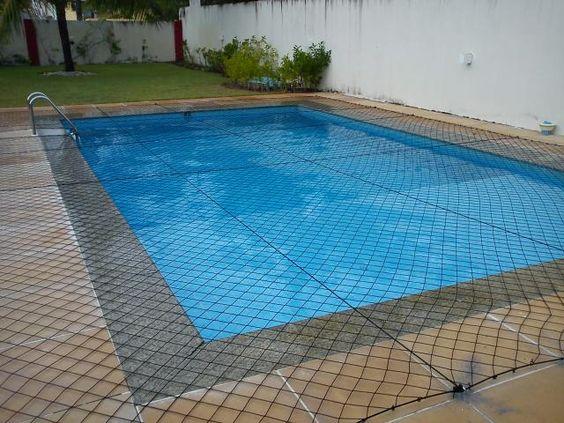redes de proteção - piscina protegida com rede