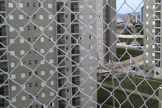 redes de proteção - rede de proteção em andar alto