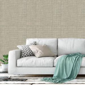 Sala de estar com sofá na cor off white