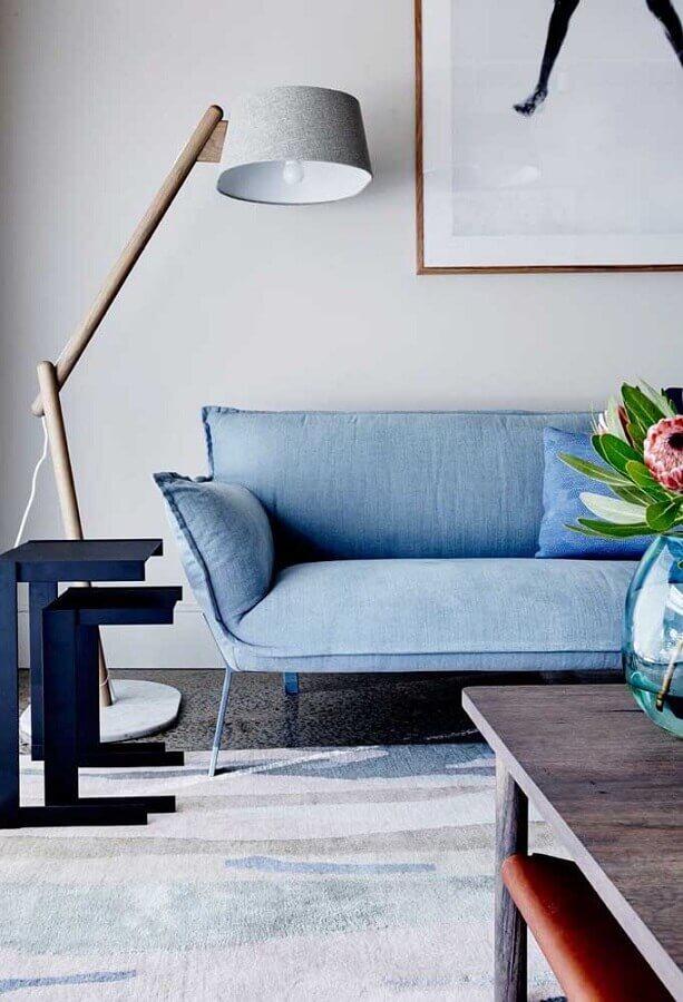 sofá azul claro com design moderno Foto Prisma Sofa
