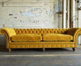 sofá chesterfield - sofá chestefield amarelo - Inspiracional Cuadrado