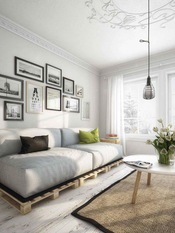 Sofá de madeira de pallets