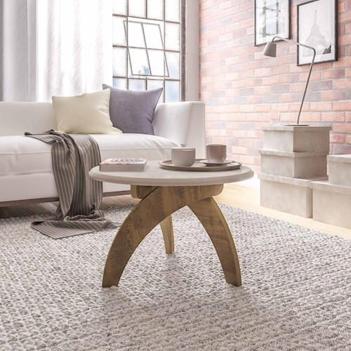 Sofá e mesa de centro na cor off white