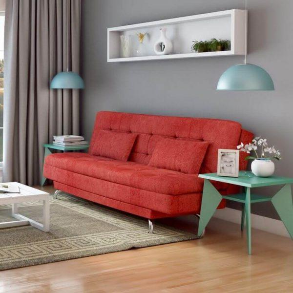 Sofá cama vermelho