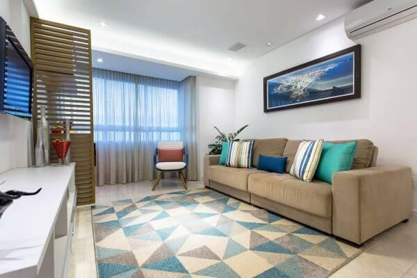 tapete azul claro