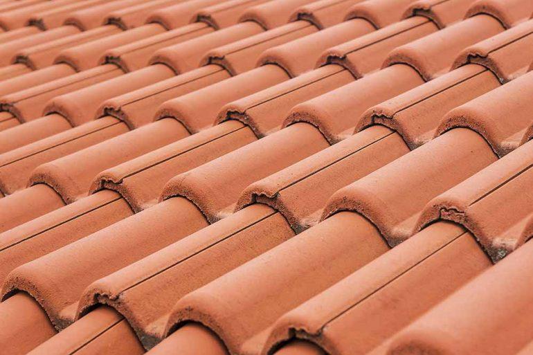 telha portuguesa - detalhe de telha portuguesa - Cobertura Leves