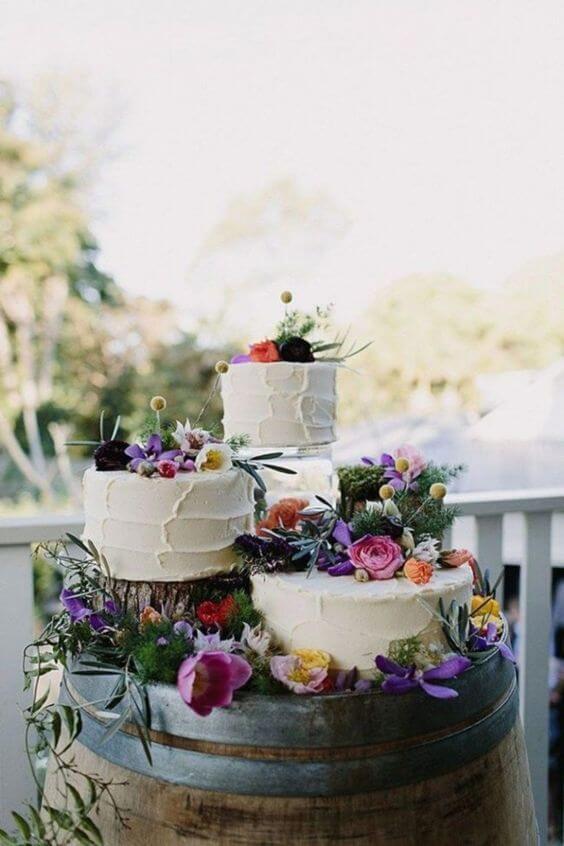 trio de fotos de bolo de 15 anos