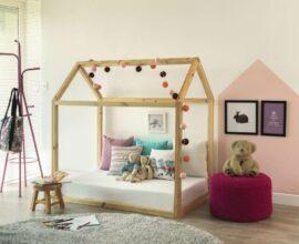A cama casinha pode ter luzes no teto. Fonte: Casa Claudia