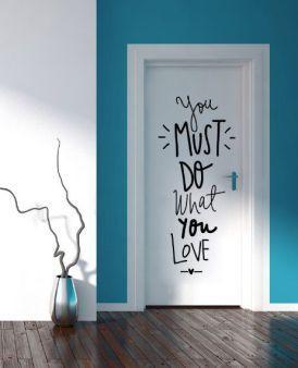 Adesivo de porta com frases