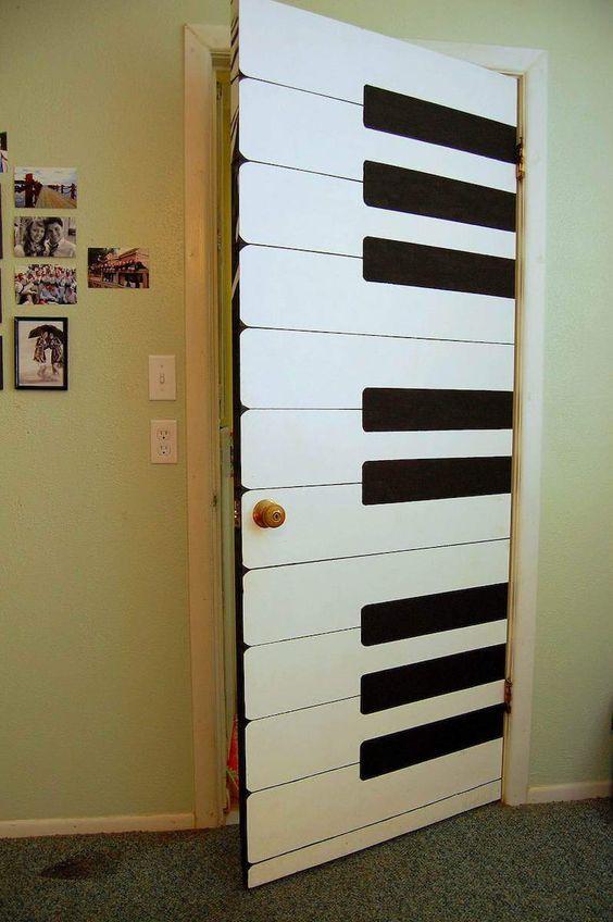 Adesivo de porta como teclado