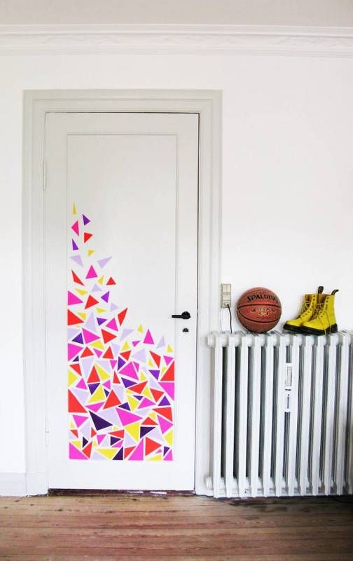 Adesivo de porta para quarto