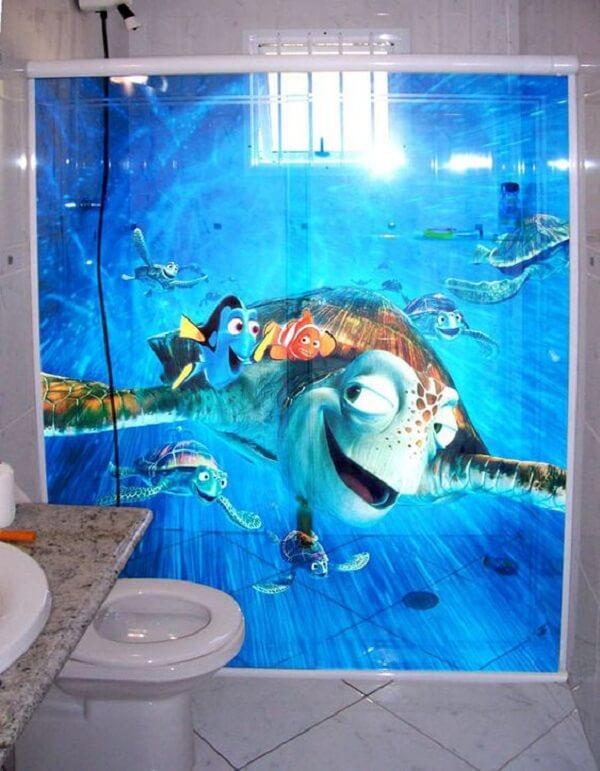 Adesivo para box de banheiro com personagens do filme Procurando Nemo