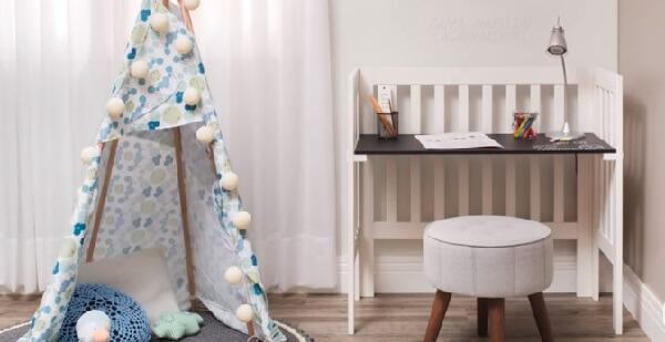 Cabaninha infantil camuflada para festa do pijama