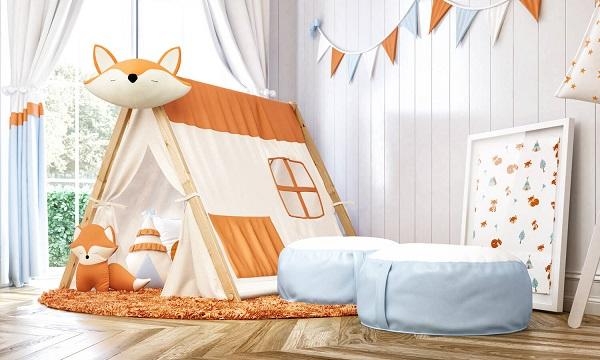 Cabaninha infantil de raposinha encanta a decoração do quarto