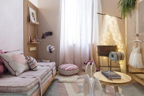 Cabaninha infantil decora o quarto do bebê