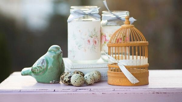 Charme e romantismo com essa gaiola decorativa pequena
