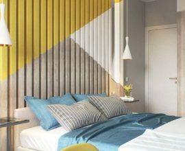 Decoração para quarto colorido azul e amarelo - Foto Ideas Decor