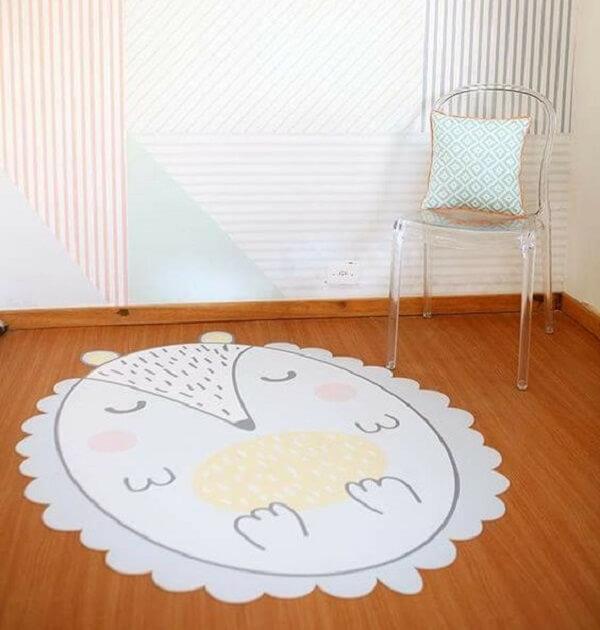 Desenho criativo para tapete emborrachado de quarto