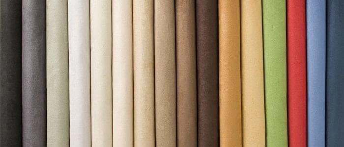 Diferentes modelos de tecido para sofá