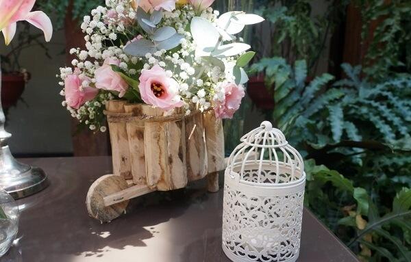Gaiolas decorativas para casamento de dia