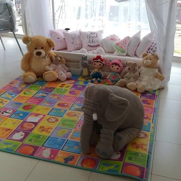 Invista em tapete emborrachado para quarto infantil colorido