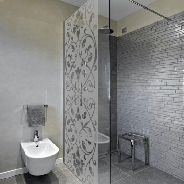 Modelo de adesivo para box de banheiro jateado