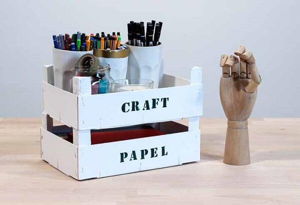 Modelo de caixote de feira personalizado