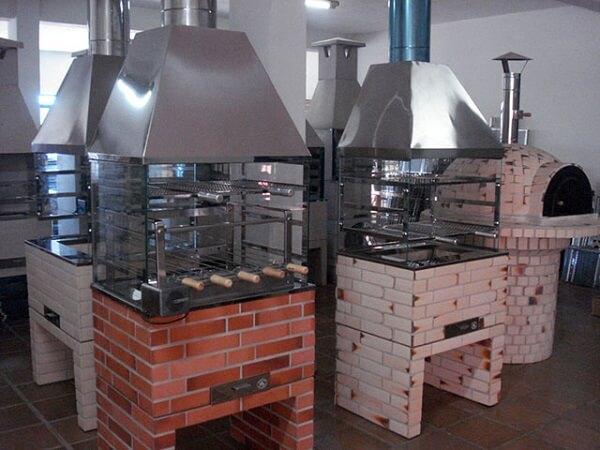 Modelos de churrasqueira de vidro pré-moldada