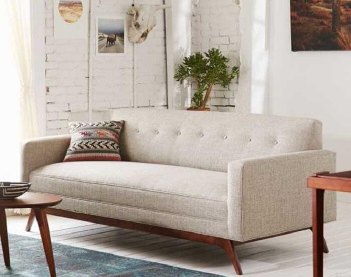 O tecido para sofá tweed é muito resistente e confortável