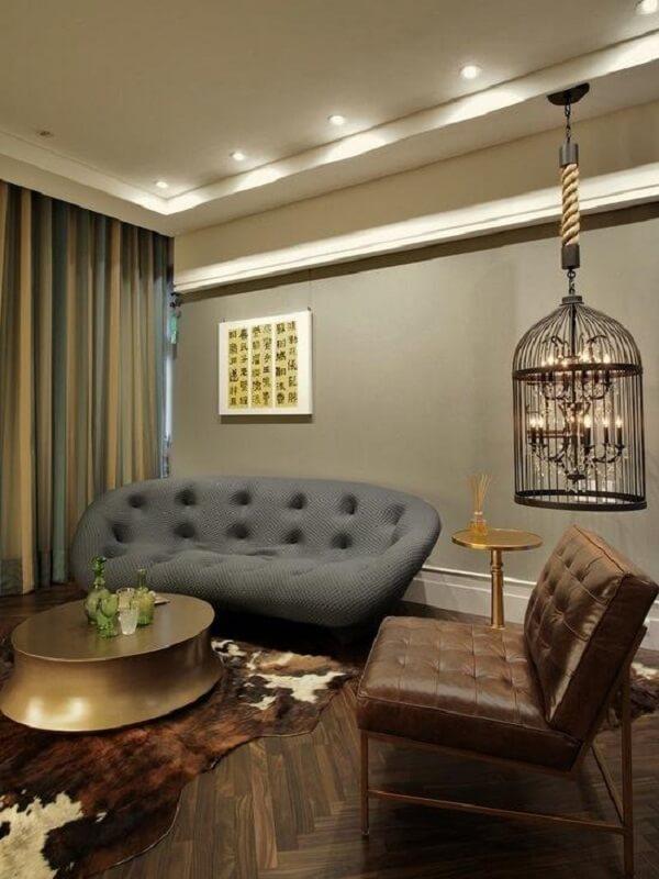 Gaiolas decorativas para decoração de sala de estar imprimi sofisticação no ambiente